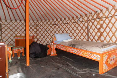 Furnishing Of A Traditional Mongolian Yurt
