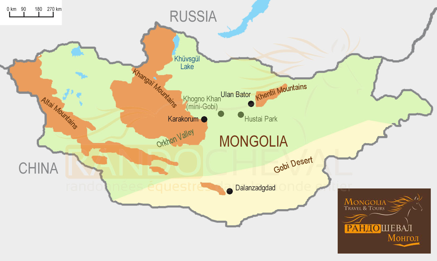 Map of Mongolia Mongolia Travel and Tours